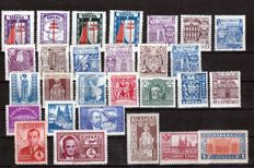 Spain 1937/1945 – Set with complete series – Edifil 833/835, 961/969, 970/973, 974/982, 983, 991/992.