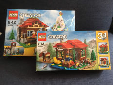 Creator - 31025 + 31048 - Mountain Hut + Lakeside Lodge