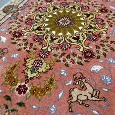 Special, Tabriz, Persian carpet – 116 x 71 – very good condition – with certificate.