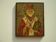 Small wooden Russian icon of St.Nicholas