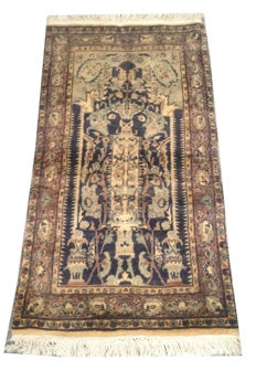 Fine Quality Vintage Persian Prayer Hand Knotted Rug 111 cm x 60 cm