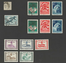 Austria 1861/1955 – Selection – Michel 23, 952/954 (2x), 985 and 1012/1016