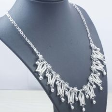 925/1000 silver necklace – Spanish design – Length: 45 cm – Weight: 26.80 g – No reserve