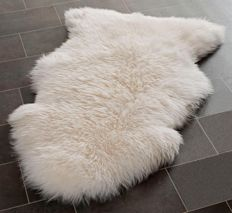 Romanian traditional Extra Large Genuine Sheepskin Rug with extra thick wool