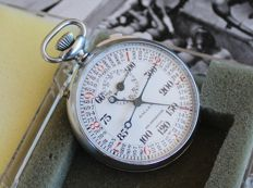 Rare Gallet split + Flyback with tachymeter scale Stopwatch - Heuer Porsche Autavia Rally