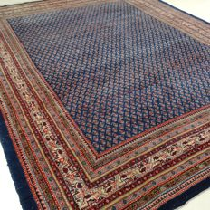 "Mir – 315 x 221 cm – ""Large Persian carpet in royal blue – In beautiful condition"" - With certificate."