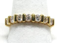 18k Gold Diamond Eternity Ring 1,15 ct. - size 55
