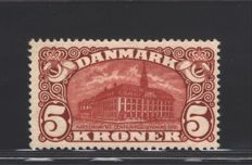 Denmark 1912 - 5 kr - Central Post Office - Facit catalogue number 120