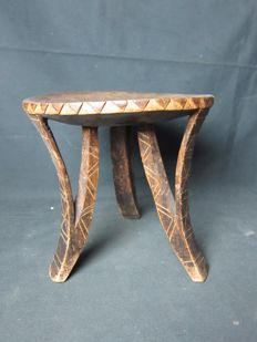 Antique African seat/tabouret - KAONDE - Zambia