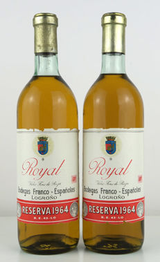1964 Rioja Royal Blanco Gran Reserva - 2 bottles