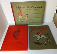 Picture books; Lot with 3 illustrated books - 1888/1910