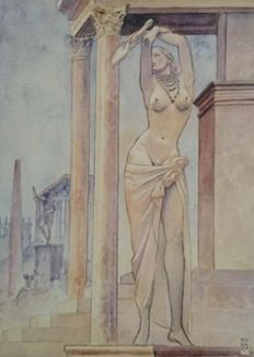 Graphic art; Milo Manara - Aphrodite 4 - late 20th century