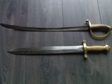 Artillery sword PITCHETS Freret and Briquet sword infantry sword