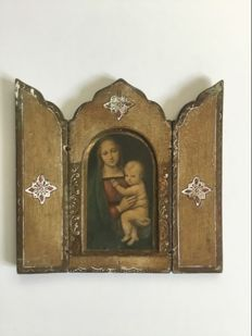 Old triptych icon - 20th century