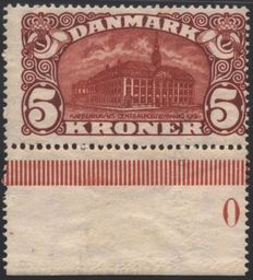 Denmark 1915 - 5 kr - Central Post Office - Facit catalogue number 121