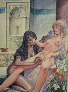 Graphic art; Milo Manara - Aphrodite 13 - late 20th century