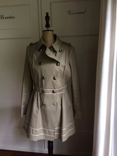 Thomas Burberry coat - mint condition - kakhi-green lime