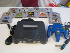 Nintendo 64 with blue controller incl 11 great games. Like Zelda - Mario and Pokemon