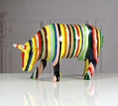 CowParade - Striped Cow - Medium - Cary Smith
