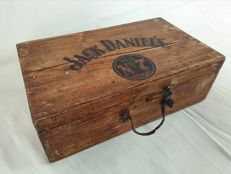 Wooden box with prints for JACK DANIEL's, early 1960s