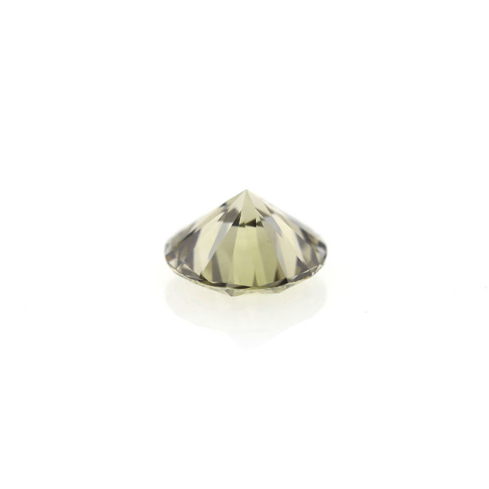 Natural Fancy Yellow Green 2.01 ct. Si1 Round Brilliant Cut shape Diamond, AIG Certified