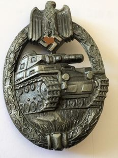 1933-1945 3rd Reich Tank assault badge in bronze