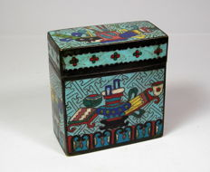 Cloisonné Opium Box – China – end of the 19th century