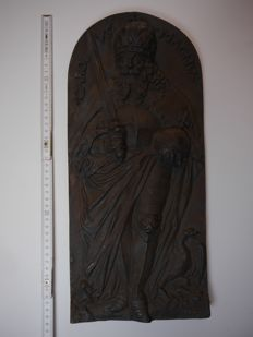 Charlemagne - relief plate from Germany - 19th century
