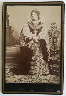 Queen Margherita, photograph with handwritten sentence - early 20th century