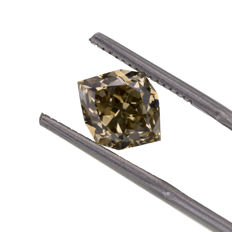 Natural Fancy Yellowish Brown 3.27 Ct. Octagon shape VS1 Diamond, AIG Certified