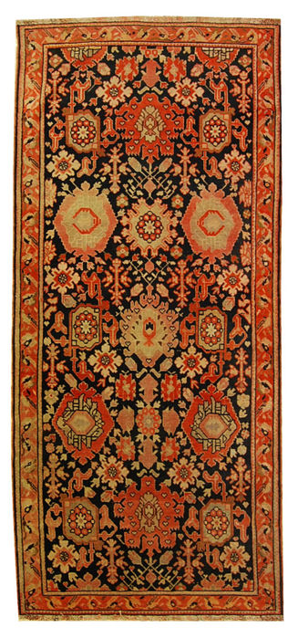 Authentic Karabak Russian rug – Original, hand-knotted – 240 x 102 cm – With Certificate of Authenticity from an official appraiser – Galleria Farah 1970