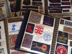 Unique collection of more than 2500 embroidered vintage logos, 1960s