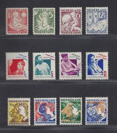 The Netherlands 1930/1932 – Children's stamps – NVPH 232/235, 240/243, 248/251