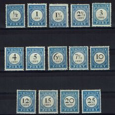The Netherlands 1894 – Postage due Number and value black – NVPH P13/P26