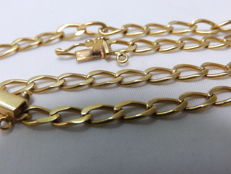 18 kt gold chain. English style links – 52 cm