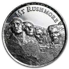 USA - 2 oz Mount Rushmore - Ultra High Relief - with 3D effect - 999 AG silver coin Silber Silver - American Landmarks