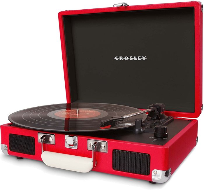 Crosley Cruiser Turntable Red + Exclusive Promo Single Chuck Berry ‎– Johnny B. Goode/ Maybellene