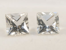 2 White Topazes - 7,09 ct total - No Reserve Price