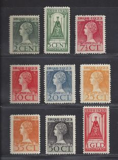 The Netherlands 1923 – Government Anniversary – NVPH 121 up to and including 129