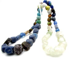 Viking Necklace with Coloured Glass Beads - 570 mm