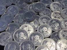 48 pieces 999 silver coins China Panda coin Berlin 2017 - newest edition