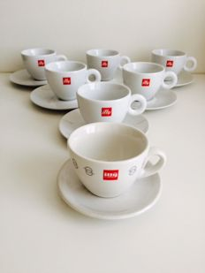 Matteo Thun for Illy - Set of 6 cappuccino cups + 1 First Illy model cup