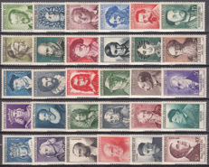 France 1943/1958 - Lot of 15 series