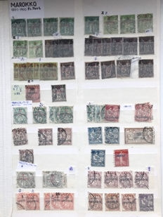 French Colony – Morocco 1891/1955 – Extensive collection incl. airmail and postage on album sheets