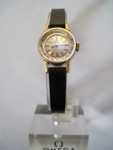OMEGA – women's watch – 60s – 2 straps ( 1X leather 1X gold-plated steel )