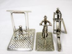 Silver Miniatures: Person on Swing - Cyclist - Slide