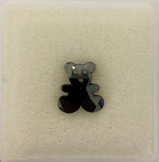 Treated Black 2.98 ct. Teddy Bear shape Flat one side Diamond, AIG Certified