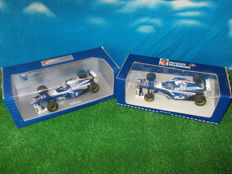Minichamps / Onyx - Scale 1/18 - Williams Renault FW19 #3 Jacques Villeneuve &  #4 Heinz Harald Frentzen 1997 French Grand Prix