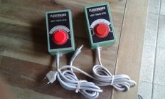 Fleischmann H0 - 6735 - 2 x Transformers/Drive controllers 14.5 VA  with MSF fine-tuning.