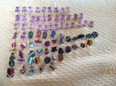 74 football players and football clubs pins